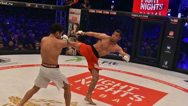 Сабқати Fight Nights Global дар шаҳри Душанбе - Sputnik Тоҷикистон