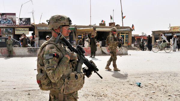 Военнослужащий США в Афганистане, архивное фото - Sputnik Таджикистан