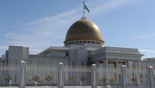 Президентский дворец Огузхан в Ашхабаде, архивное фото - Sputnik Тоҷикистон