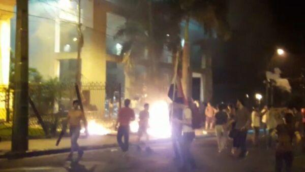 Акции протеста в парагвайском Асунсьоне - Sputnik Таджикистан