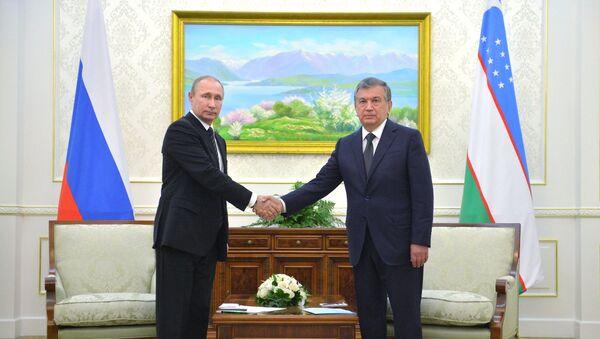 Президент РФ Владимир Путин и глава Узбекистана Шавкат Мирзиёев, архивное фото - Sputnik Таджикистан