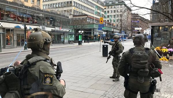 Полиция Стокгольма, архивное фото - Sputnik Таджикистан