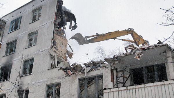 Снос малоэтажных зданий в Москве, архивное фото - Sputnik Таджикистан