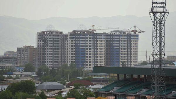 Обзор на город Душанбе, строящийся дом - Sputnik Тоҷикистон