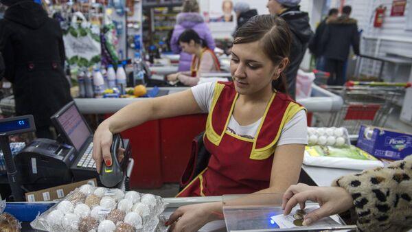 Касса магазина, архивное фото - Sputnik Таджикистан