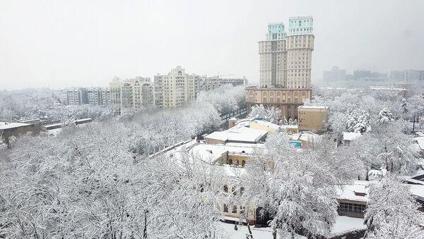 Снегопад в Душанбе - Sputnik Тоҷикистон
