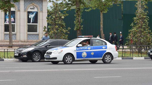 Машина милиции в Душанбе, архивное фото - Sputnik Таджикистан