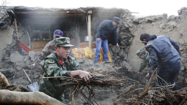 Землетрясение в Китае - Sputnik Тоҷикистон