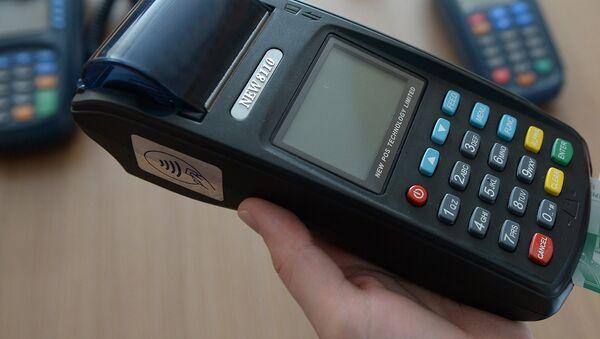 Платежный терминал для банковской карты - Sputnik Таджикистан