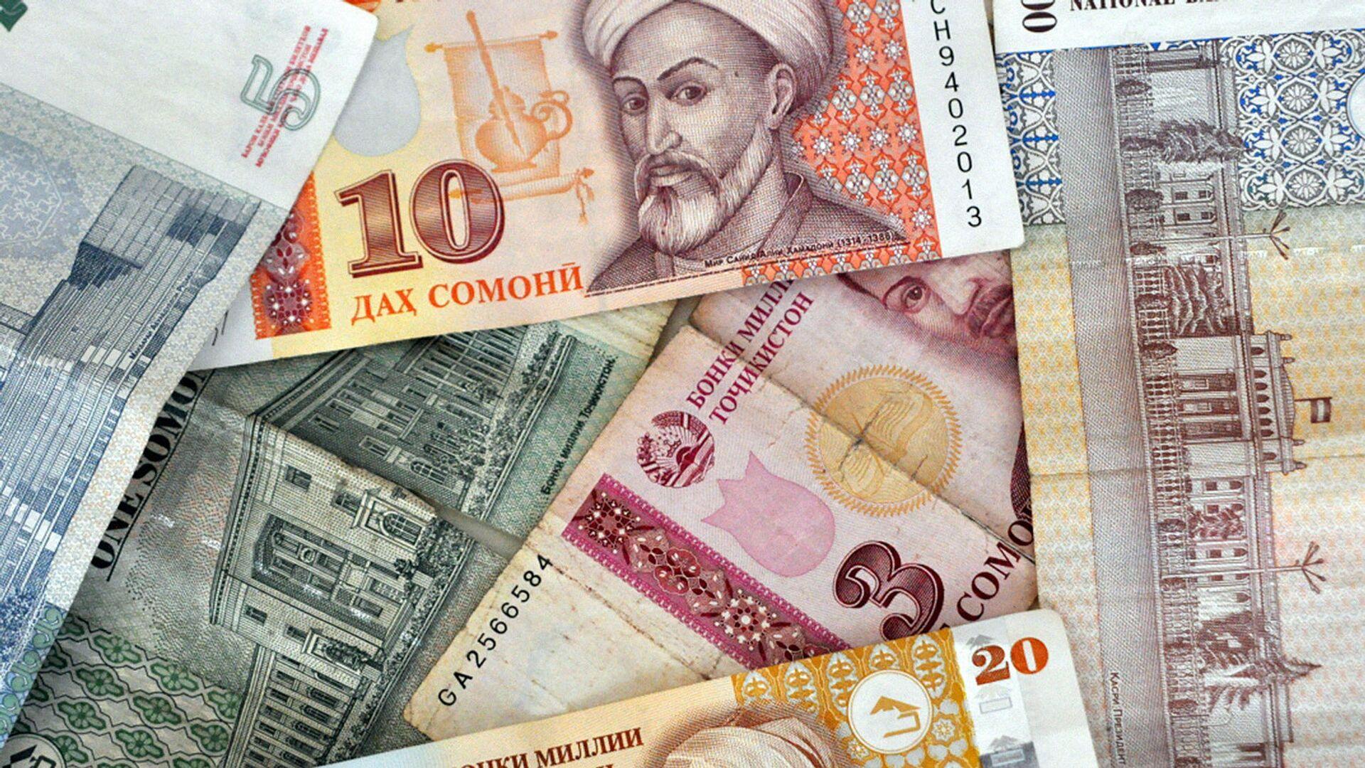 Таджикские денежные знаки Сомони - Sputnik Таджикистан, 1920, 21.07.2021