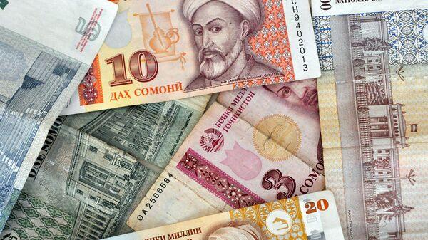 Таджикские денежные знаки Сомони - Sputnik Таджикистан