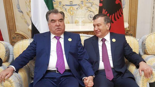 Президент Таджикистана Эмомали Рахмон и глава Узбекистана Шавкат Мирзиёев - Sputnik Тоҷикистон
