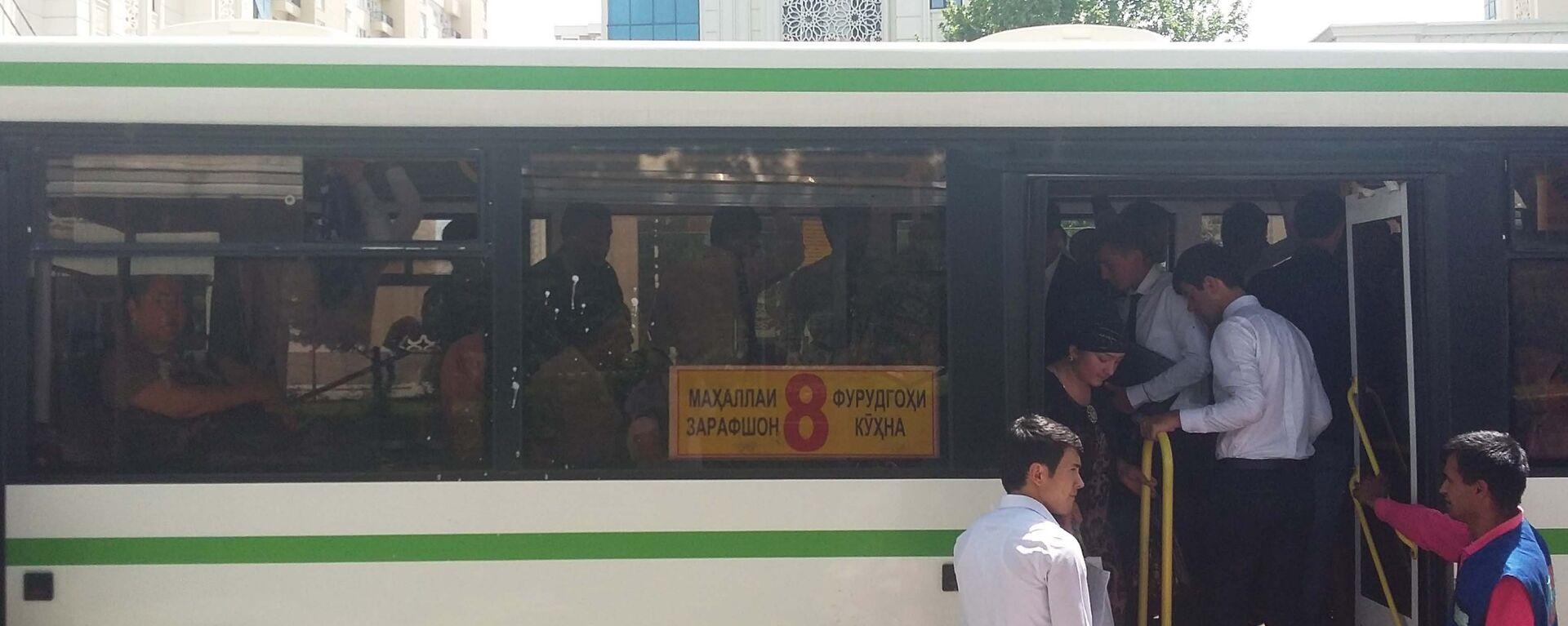 Автобус №8 в Душанбе, архивное фото - Sputnik Тоҷикистон, 1920, 26.07.2021
