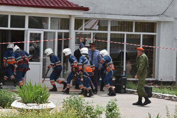 Учения Антитеррор 2017 в Душанбе - Sputnik Таджикистан