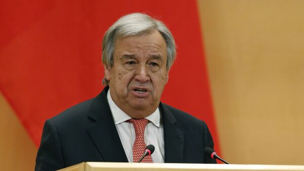 Генеральный секретарь ООН Антониу Гутерреш, архивное фото - Sputnik Тоҷикистон