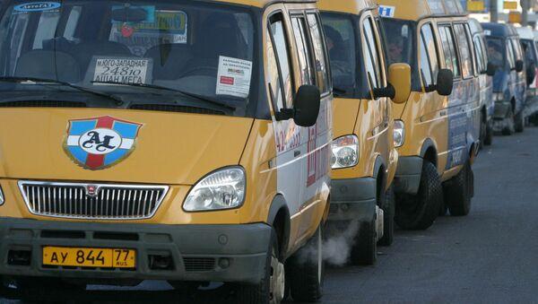 Маршрутные такси, архивное фото - Sputnik Таджикистан