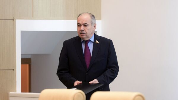 Заседание Совета Федерации РФ, Умаханов - Sputnik Таджикистан