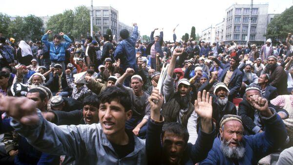 Митинг на площади Шахидон - Sputnik Таджикистан
