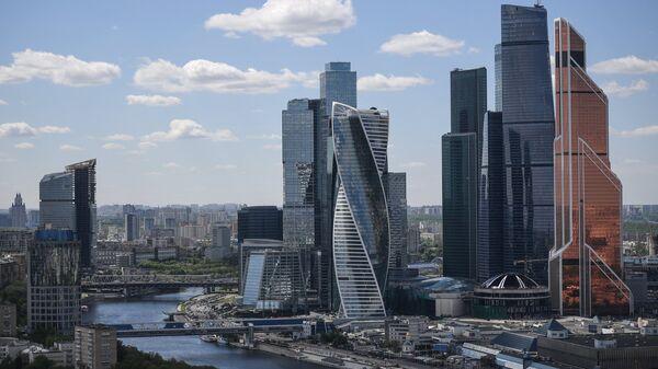 Город москва, вид на международный деловой центр, архивное фото - Sputnik Таджикистан