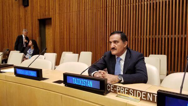 Постоянный представитель РТ при ООН Махмадамин Махмадаминов - Sputnik Таджикистан