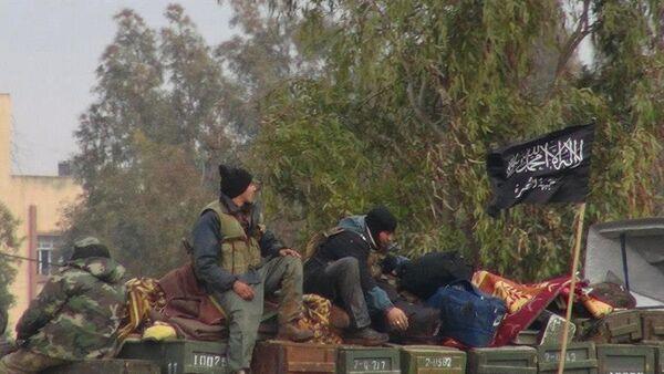 Боевики Джебхат ан-Нусра на грузовике с боеприпасами, архивное фото - Sputnik Таджикистан