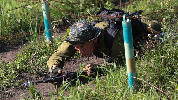 Международный конкурс Отличники войсковой разведки в Новосибирской области - Sputnik Таджикистан