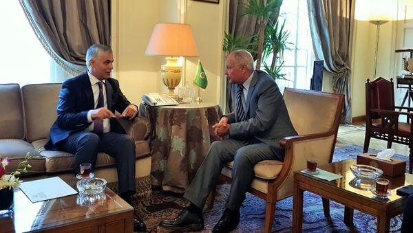 Встреча посла РТ с президентом Лигии арабских стран - Sputnik Тоҷикистон