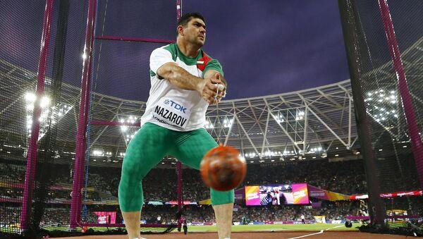 Дильшод Назаров на чемпионате мира на Лондонском стадионе, архивное фото - Sputnik Таджикистан