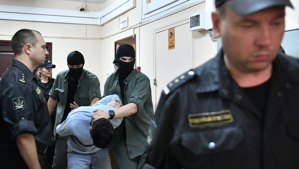 Арест подозреваемых - Sputnik Таджикистан