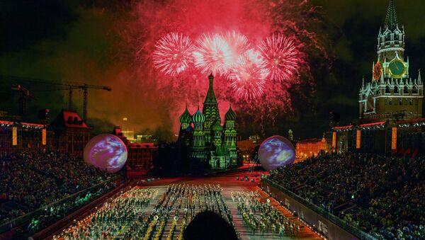 Церемония открытия X Международного военно-музыкального фестиваля Спасская башня - Sputnik Таджикистан