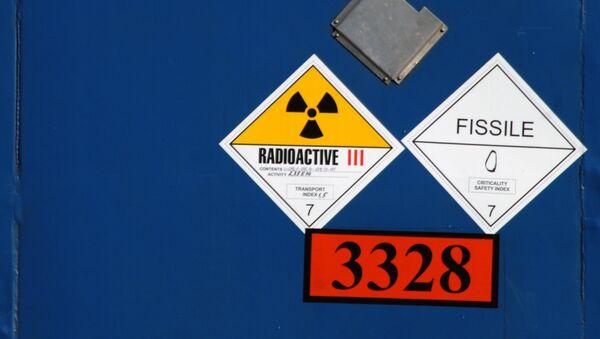 Радиоактивный знак, архивное фото - Sputnik Таджикистан