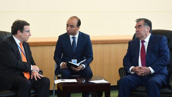 Встреча с Директором Программы развития ООН Ахимом Штайнером - Sputnik Таджикистан