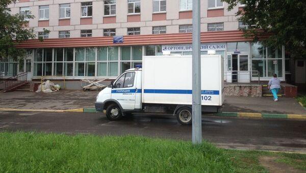 Машины полиции у 68-й городской больницы, архивное фото - Sputnik Таджикистан