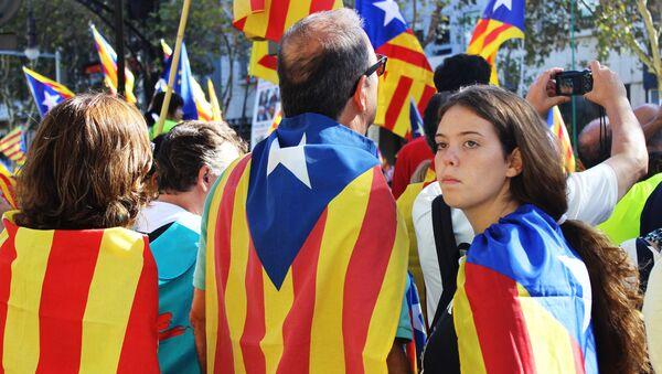 Акция в поддержку референдума в Барселоне, архивное фото - Sputnik Таджикистан