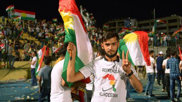 Митинг сторонников независимости Иракского Курдистана - Sputnik Тоҷикистон
