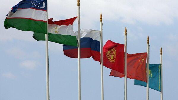 Флаги стран участников ШОС. Архивное фото - Sputnik Таджикистан
