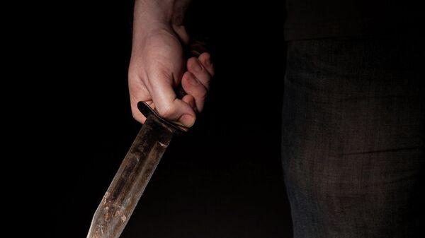 Нож в руке, архивное фото - Sputnik Тоҷикистон