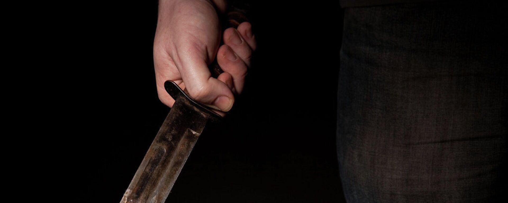 Нож в руке, архивное фото - Sputnik Тоҷикистон, 1920, 31.08.2021