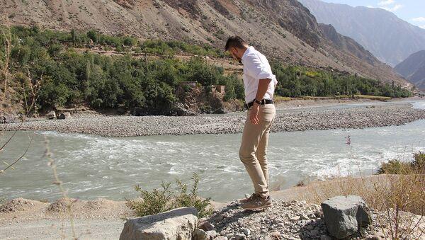 На таджикско-афганской границе, Пяндж - Sputnik Таджикистан