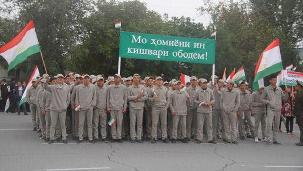 Как провожали в Согде призывников молодых в армию - Sputnik Тоҷикистон