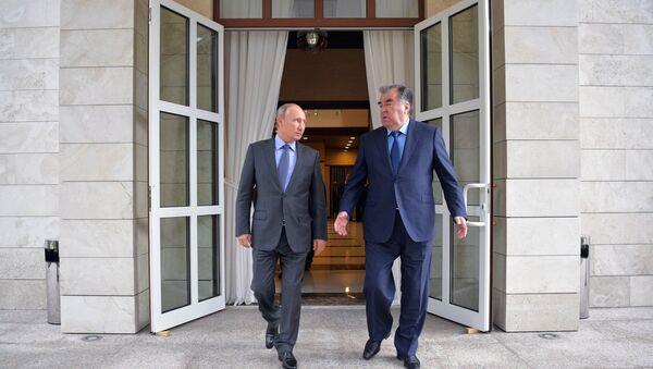 Встреча президента РФ В. Путина с президентом Таджикистана Э. Рахмоном - Sputnik Таджикистан