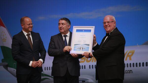 Авиакомпания «Сомон Эйр» получила 11 октября 2017 года сертификат о вступлении в членство Международной ассоциации воздушного транспорта - Sputnik Тоҷикистон
