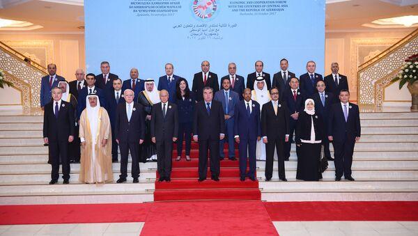 Второе заседание экономического Форума и сотрудничества арабских государств со странами Центральной Азии и Азербайджана - Sputnik Тоҷикистон