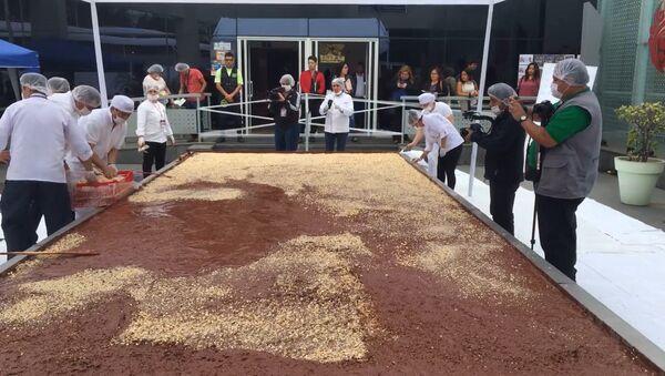 Самые большие торт и плитка шоколада для Книги рекордов Гиннесса - Sputnik Тоҷикистон