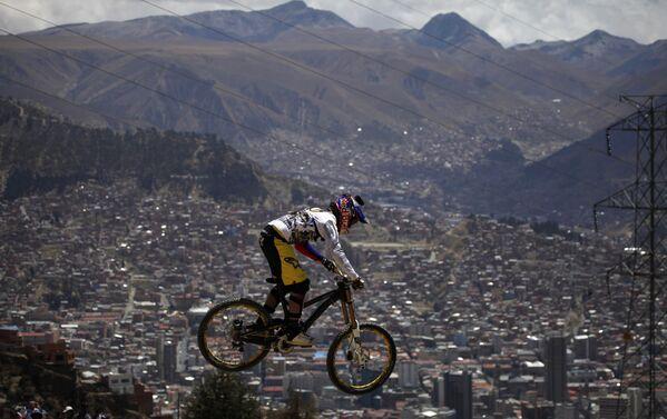 Экстремальная велогонка, архивное фото - Sputnik Таджикистан
