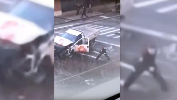 Задержание подозреваемого в наезде на велосипедистов в Нью-Йорке - Sputnik Тоҷикистон