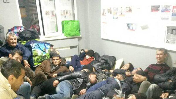 Мигранты, снятые с поезда - Sputnik Таджикистан