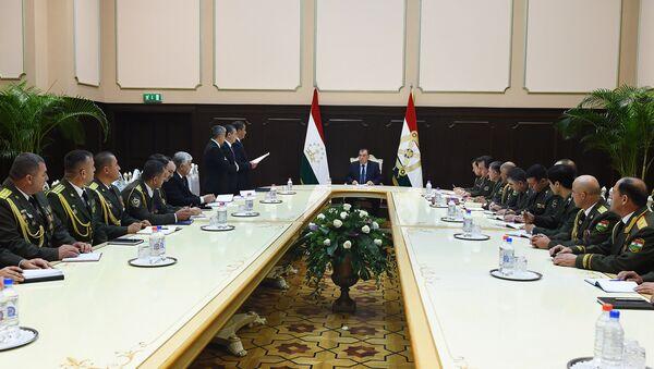 Заседание правительства Таджикистана, архивное фто - Sputnik Тоҷикистон