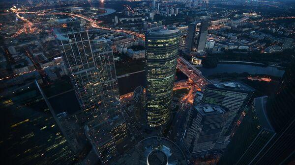 Вид с 89-го этажа Башни Федерация-Восток делового комплекса Москва-Сити, архивное фото - Sputnik Таджикистан