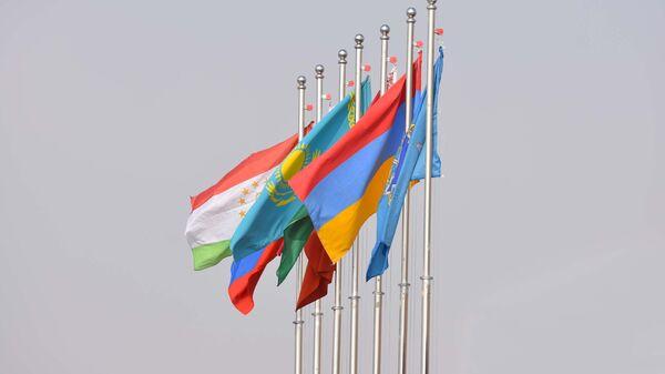 Флаги стран участниц ОДКБ, архивное фото - Sputnik Таджикистан